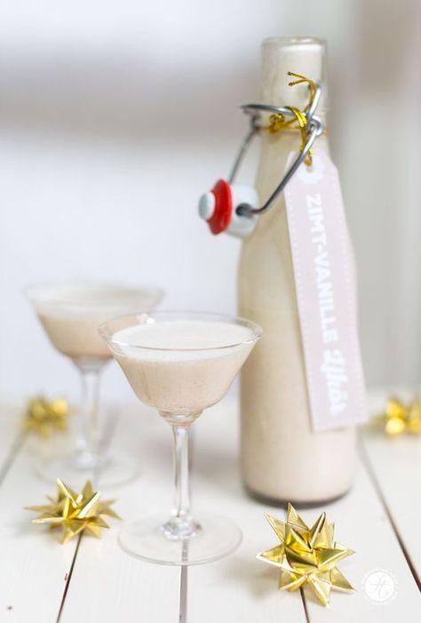 geschenke aus der k che weihnachtlicher zimt vanille lik r free printable labels. Black Bedroom Furniture Sets. Home Design Ideas