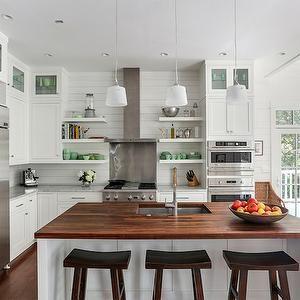 Island Butcher Block, Transitional, kitchen, Amy Trowman Design