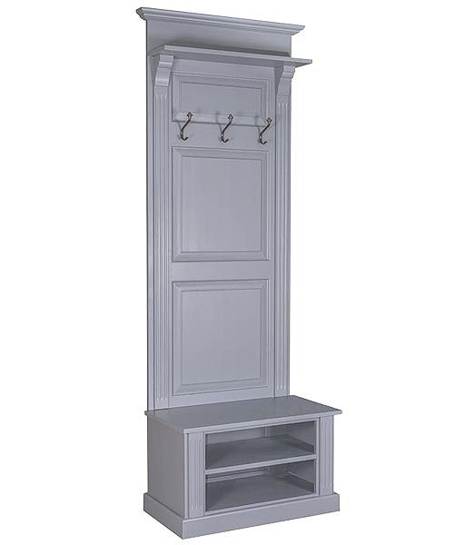 Narrow French Panelled Hall Stand With Shoe Storage