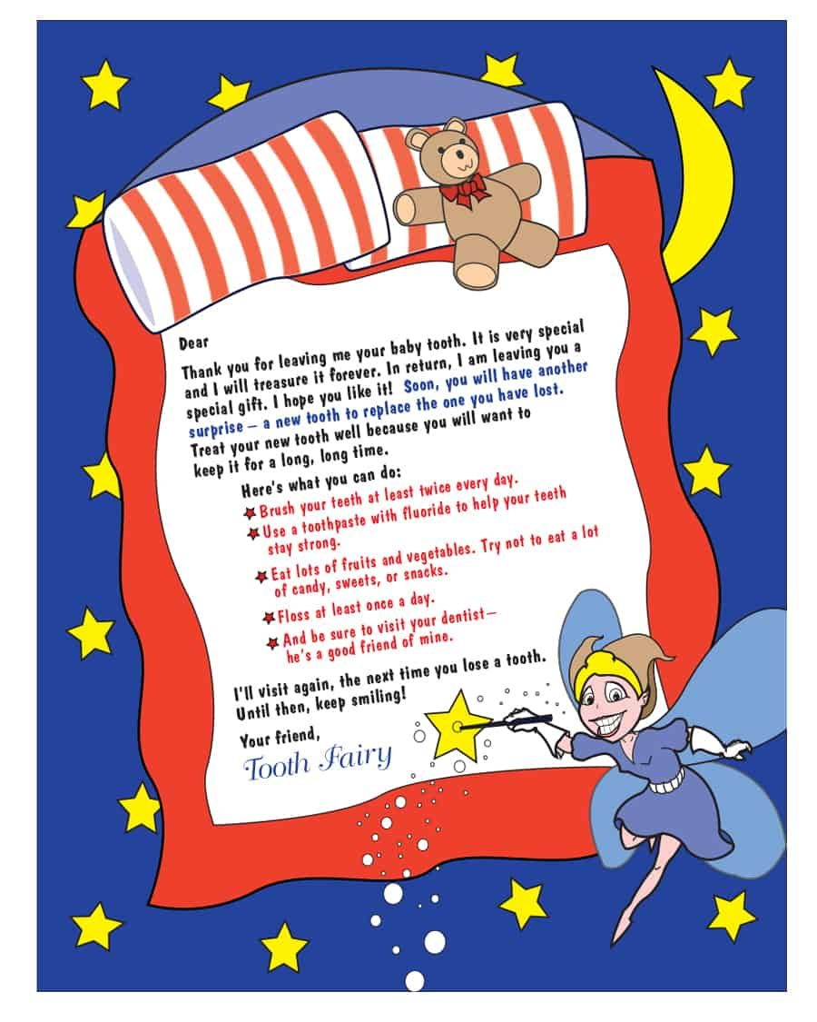 37 Tooth Fairy Certificates & Letter Templates Tooth
