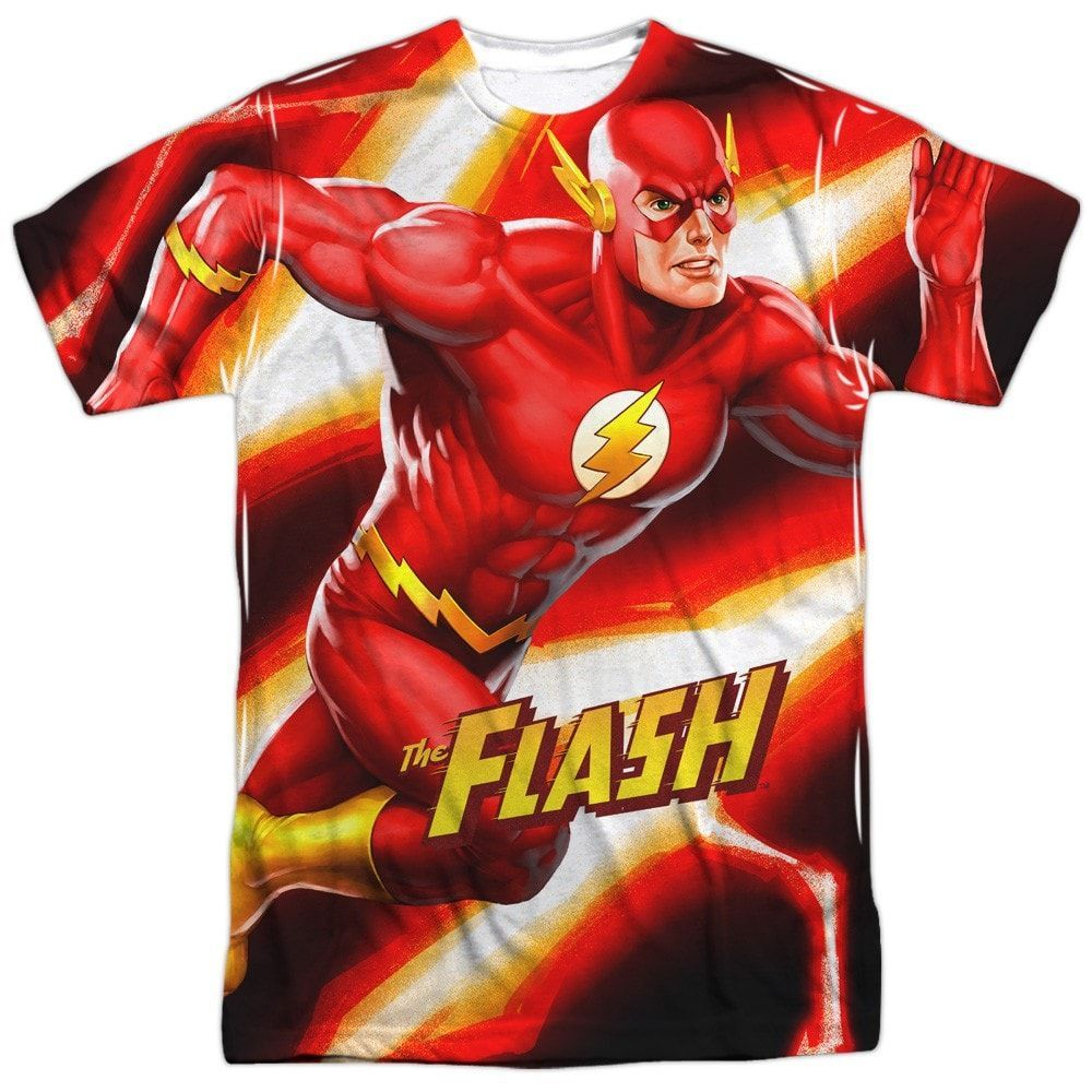 Flash - Speed Bolt Adult All Over Print 100% Poly T-Shirt