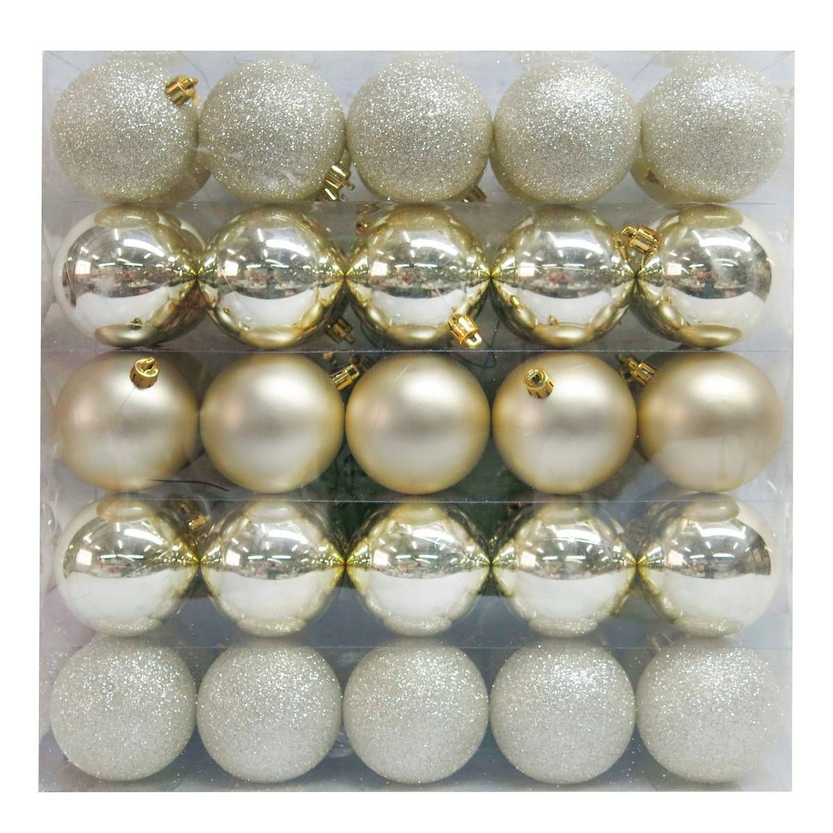 Gold Champagne Glitter Metallic Ball Ornaments #Christmas
