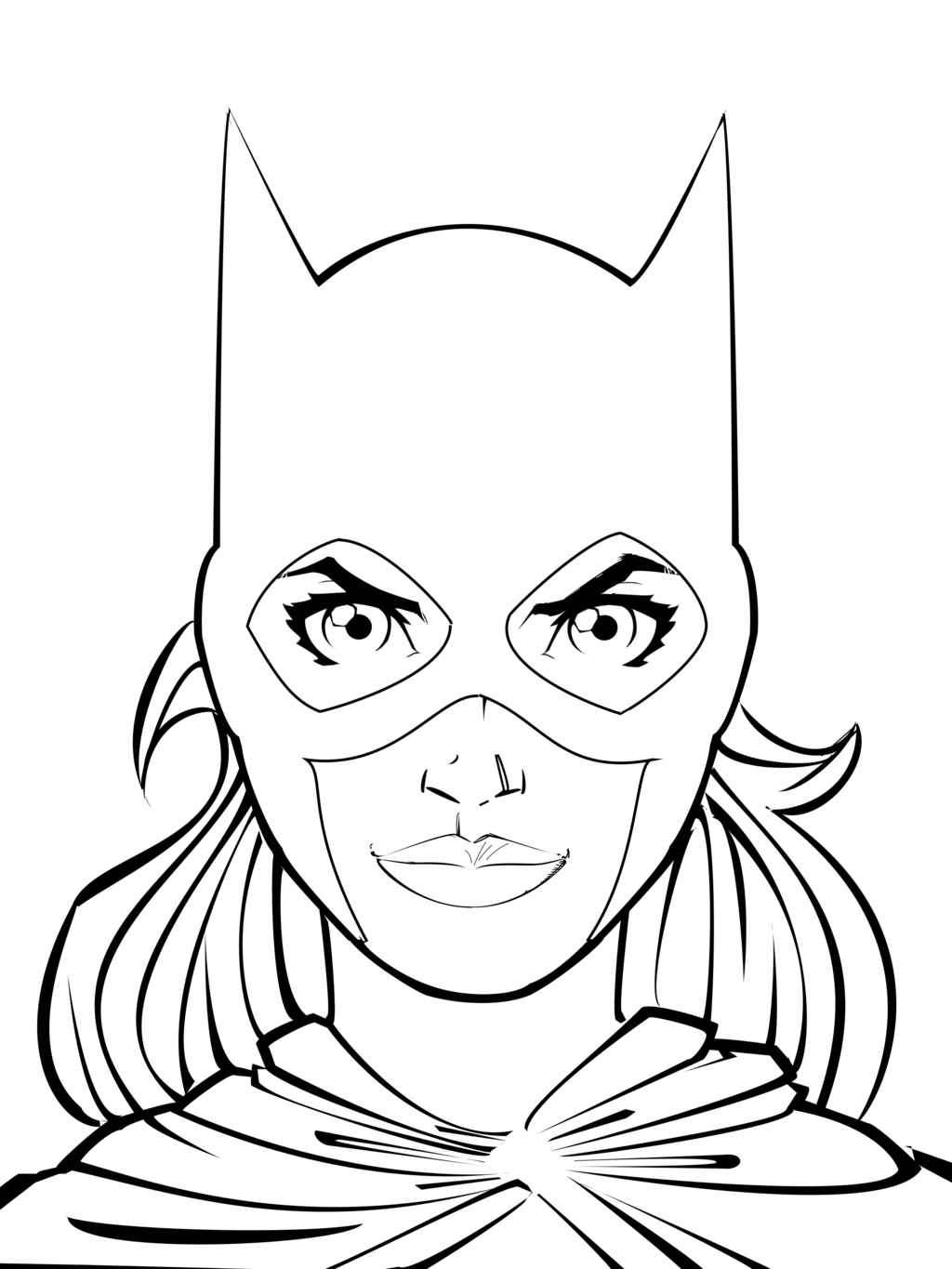 Coloring pages wonder woman - Batgirl Coloring Pages