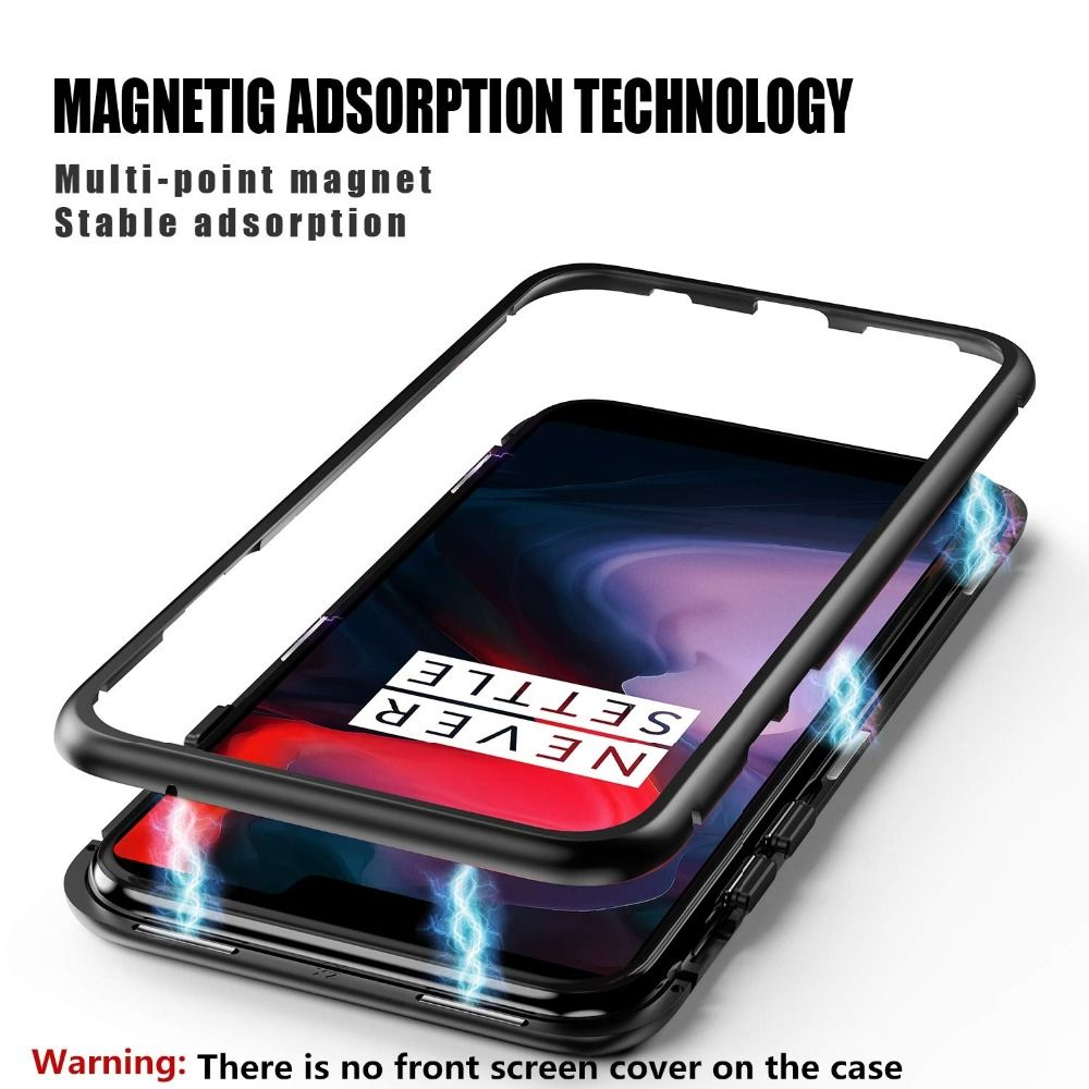 163a90e9bf Bakeey 360° Magnetic Adsorption Metal Tempered Glass Flip Protective Case  for OnePlus 6T #Banggood #Bakeey #360 #Magnetic #Adsorption #Metal #Tempered  ...