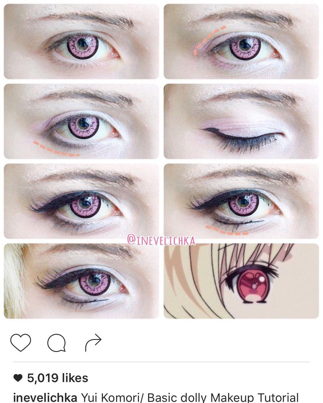Yui Komori (M) Cosplay MakeUp Cosplay makeup tutorial