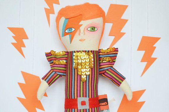 David Bowie doll / Aladdin Sane / Cloth doll / by MandarinasDeTela