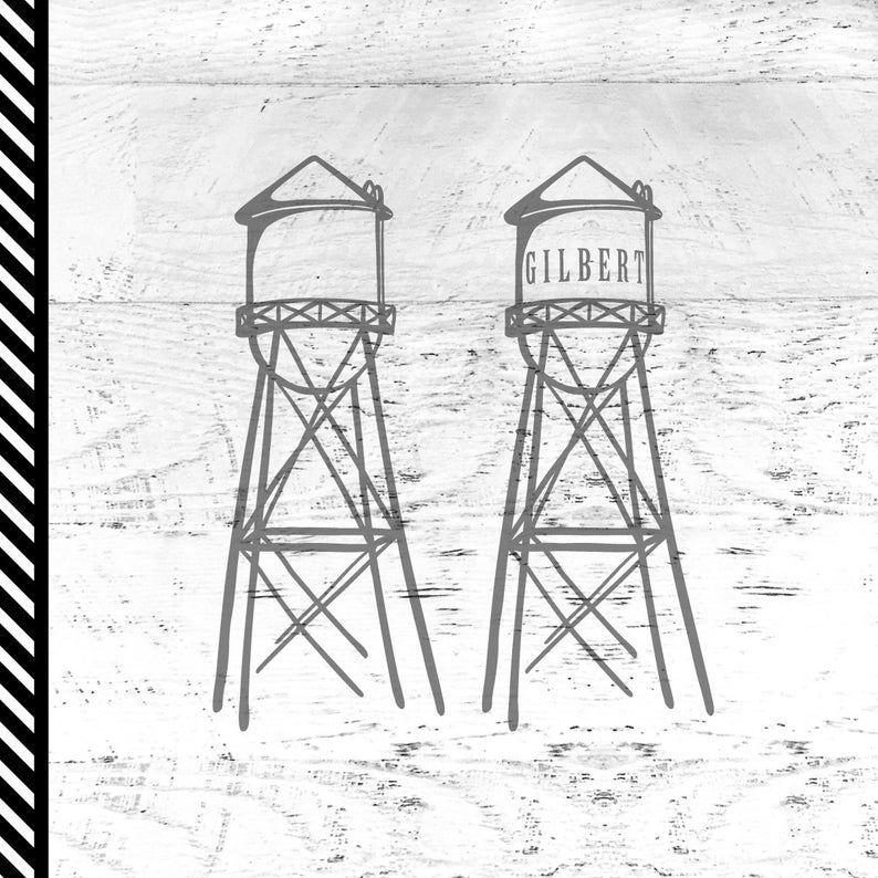 Water Tower Svg Gilbert Water Tower Guene Water Tower Image 0 In 2020 Water Tower Water Drawing Windmill Water
