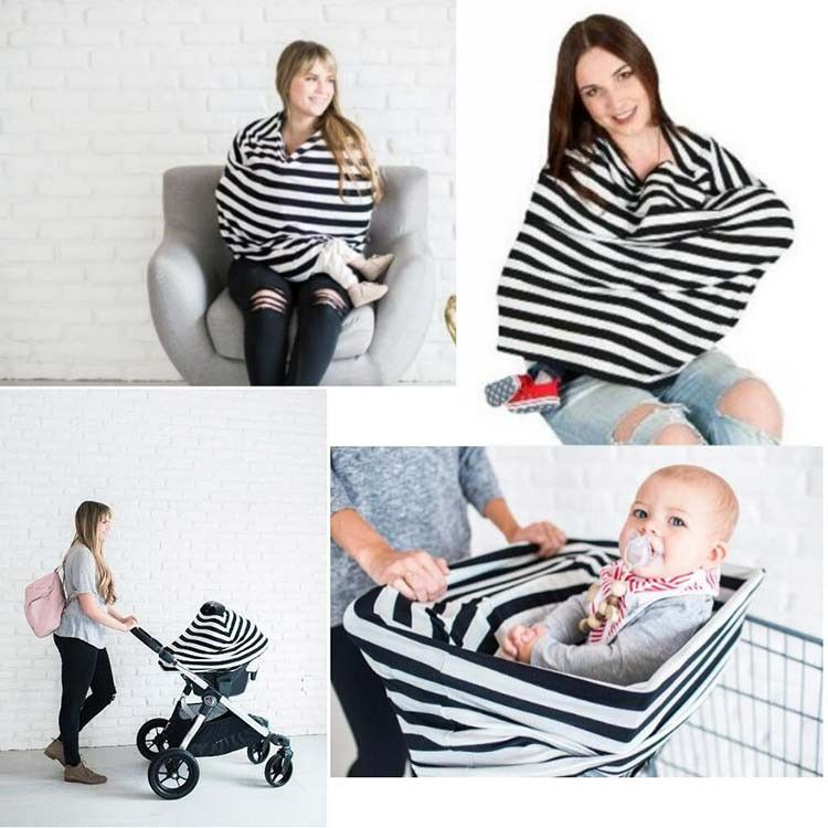 Carseat Canopy Cover Doubles as a Convenient Breastfeeding or Shopping Cart Cover Car Seat Canopy Accessories are a Perfect Baby Shower Gift for Baby Girls and Boys!