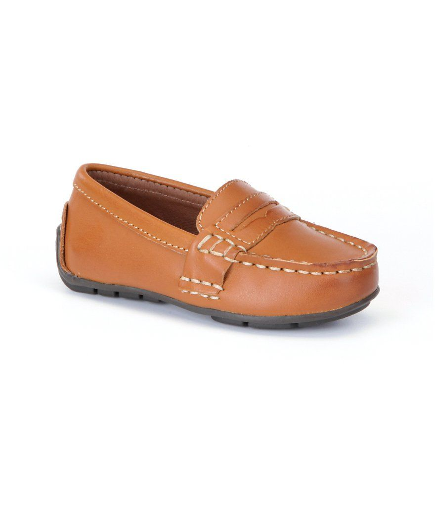 28c8c435056 Polo Ralph Lauren Boys  Telly Burnished Leather Penny Loafers