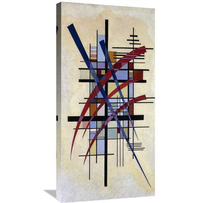 "Global Gallery 'Zeichen Mit Begleitung' by Wassily Kandinsky Graphic Art on Wrapped Canvas Size: 36"" H x 18"" W x 1.5"" D"