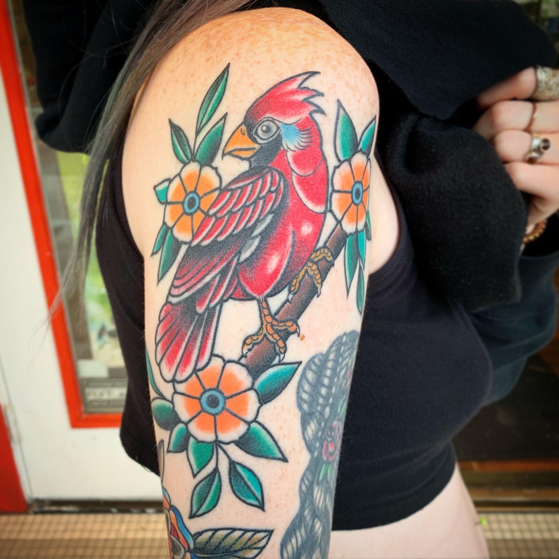 Cardinal Tattoo Timeless Tattoo Tattoos Female Tattoo Artists
