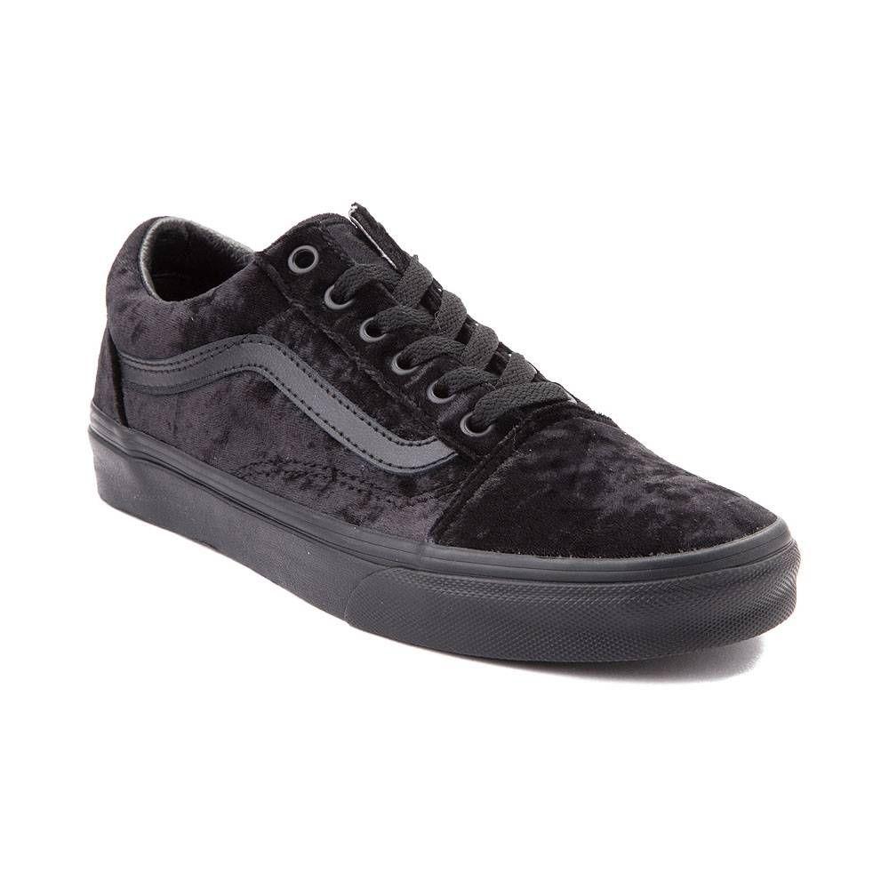 a5bd34b9bc VansOld Skool Velvet Skate Shoe - Black Monochrome - 497184 (Men 6 Women  7.5)