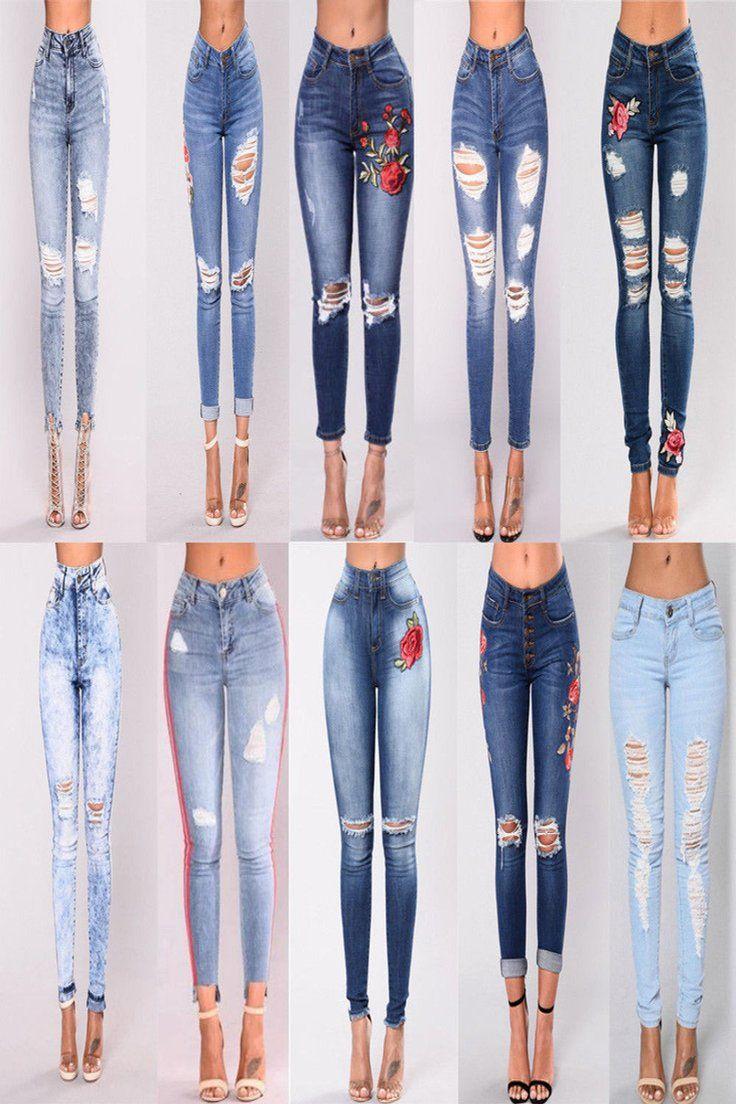 Womens Ladies Black Mid-Rise Stretchy Skinny Denim Jeans Jegging 6 8 10 12 14