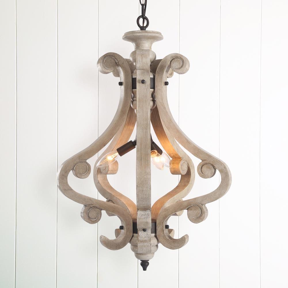 Farmhouse Lighting Wood chandelier rustic, Elegant