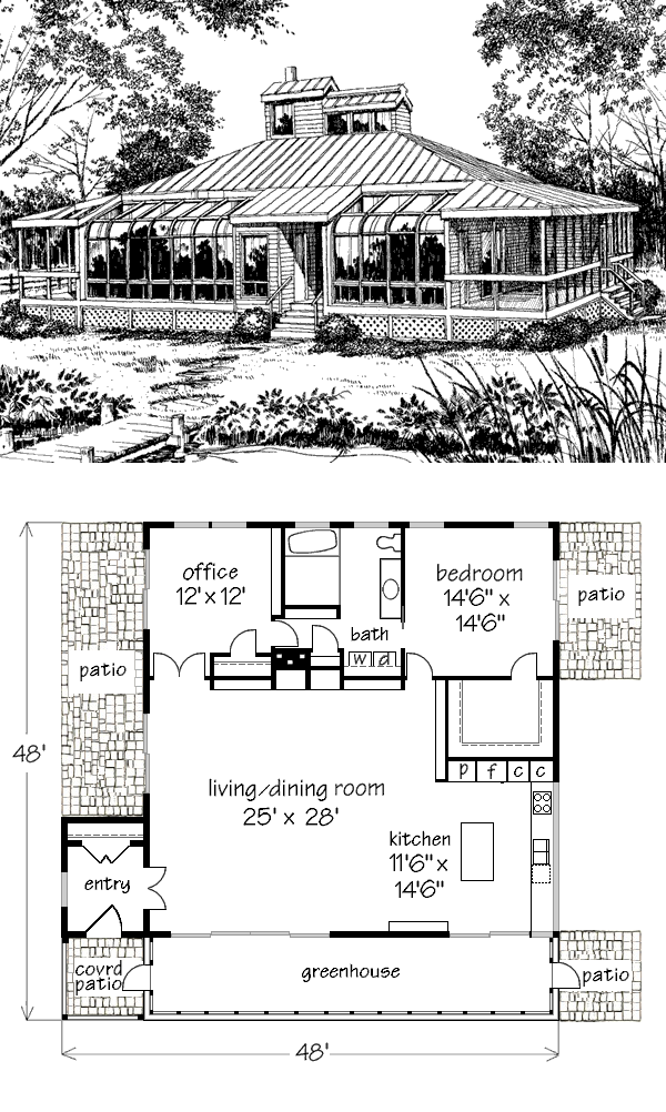 I Found An Incredible Little Plan With A Greenhouse Attached Definitely My New Dream Home This Plan Includes My Cha How To Plan Floor Plans Dream House Plans