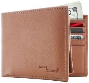 67a42b6a17ce31 New Leather Mens Bifold Wallet With Removable Slim Cardholder RFID Blocking