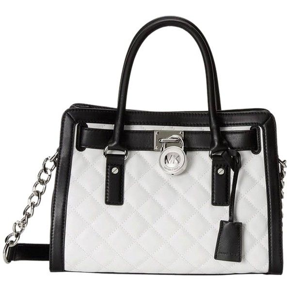 Pre-owned Michael By Michael Kors Quilted East West Hamilton Black ... : michael kors quilted hamilton - Adamdwight.com
