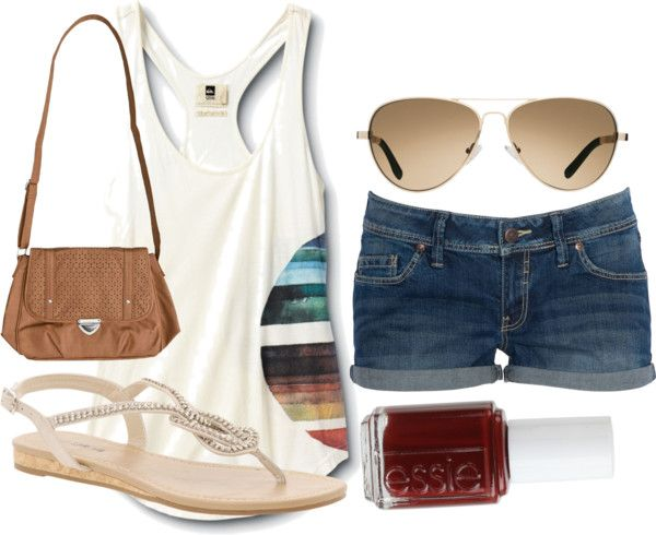 """lets go to the beach-eachh"" by michellepach on Polyvore"