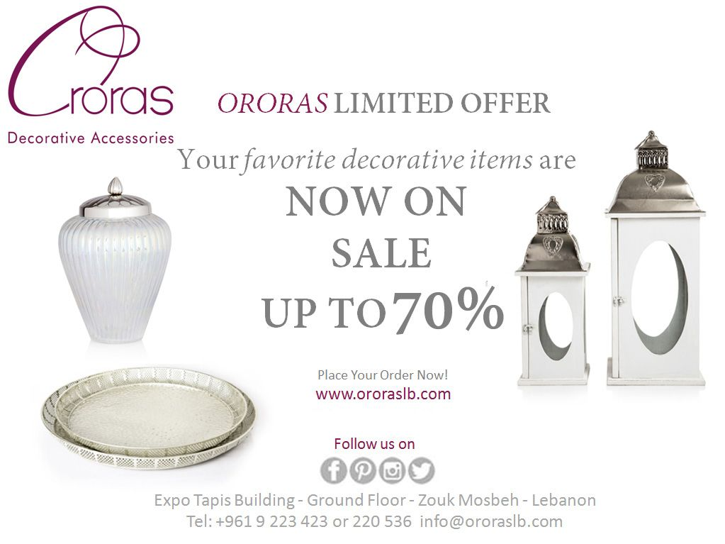Sale Up To 70% At Ororas