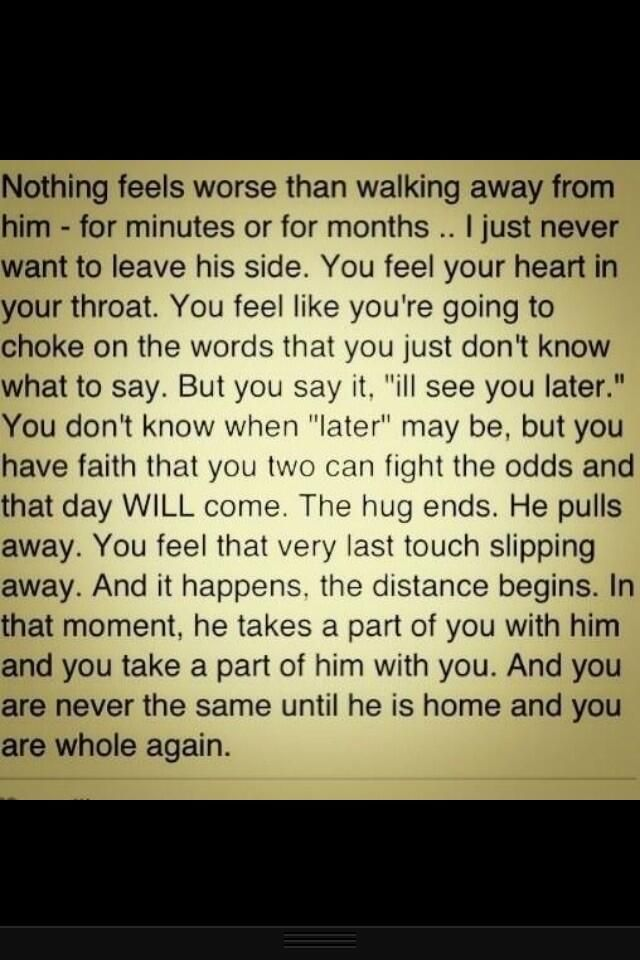 This made me cry :( I can't wait till deployment is over... We'll be together soon enough, my love!