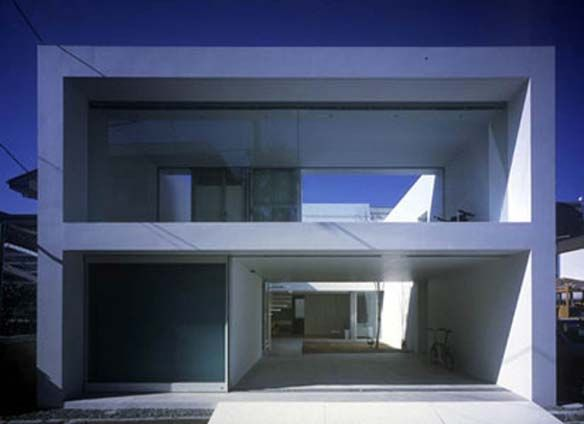 This Residence Is Composed Of A Double Decker Culvert Box Located In The Center Of Modern Architecture House Contemporary House Design Minimalist Architecture
