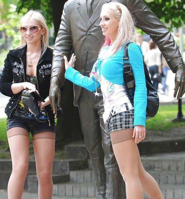 девочки русские в чулках