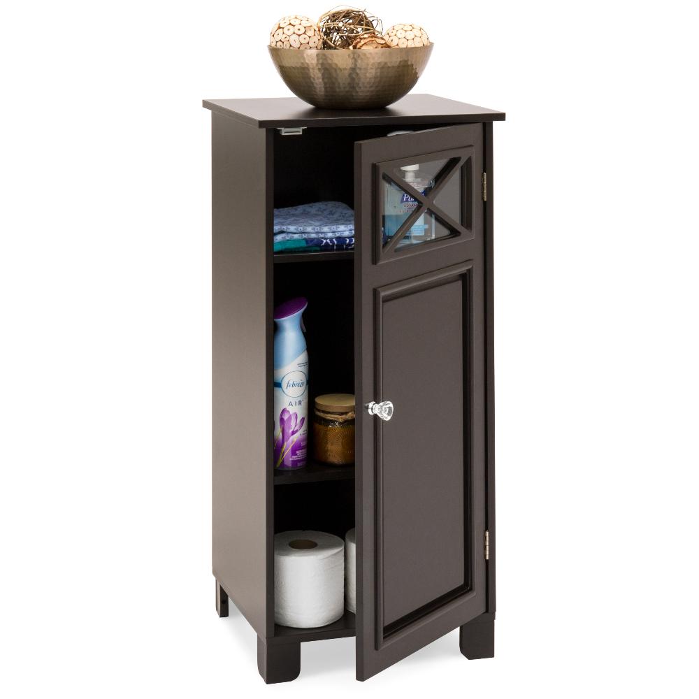 Best Choice Products 3 Tier Wooden Floor Cabinet For Bathroom Storage And Organization W Adjustable Shelves Espresso Walmart Com Storage Cabinets Adjustable Shelving Storage And Organization