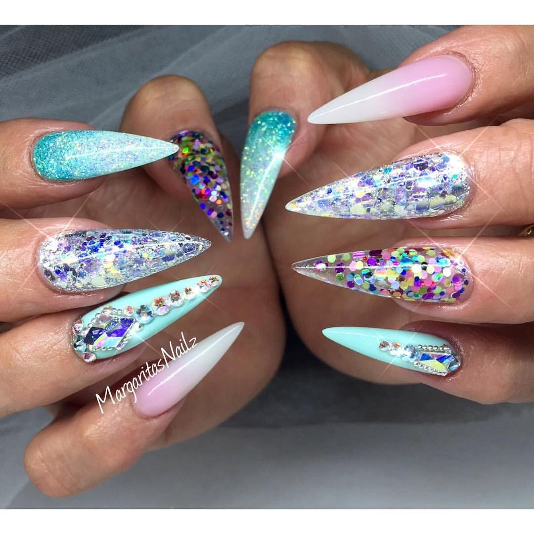 Stiletto Nail Art: Summer Stiletto Nails 2016 Nail Art