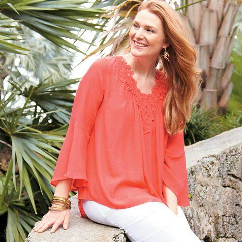 Valerie Stevens plus size crochet top