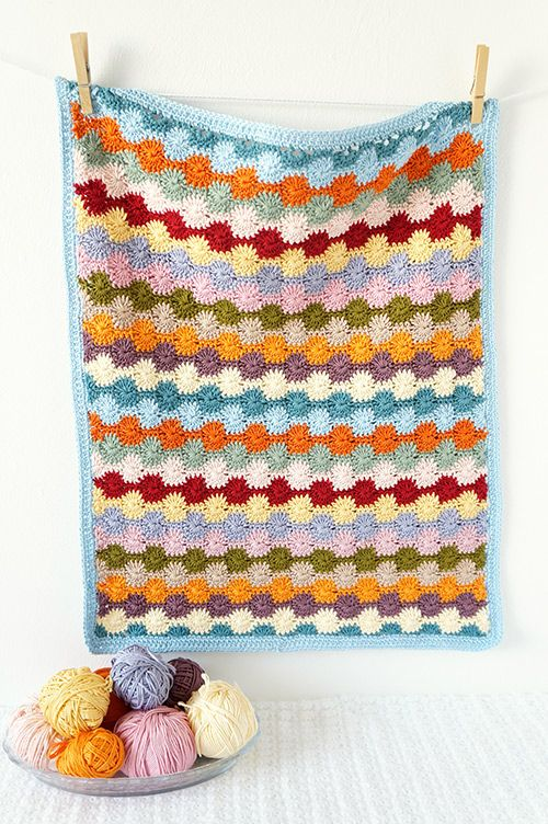 Penny baby blanket crochet pattern by Little Doolally | Colchas ...