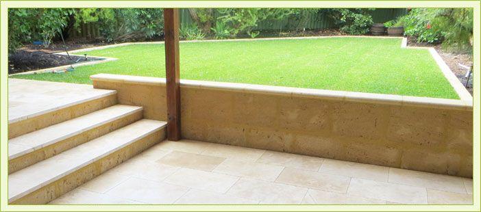 Limestone Retaining Walls Perth Outdoor Patio Ideas Backyards Raised Patio Outdoor Patio