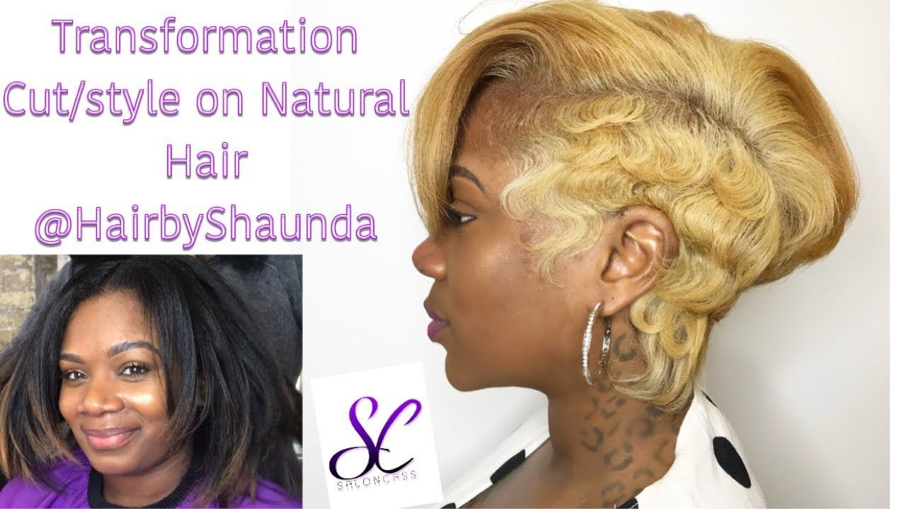 Edgy short hairstyle on natural hair hairbyshaunda youtube