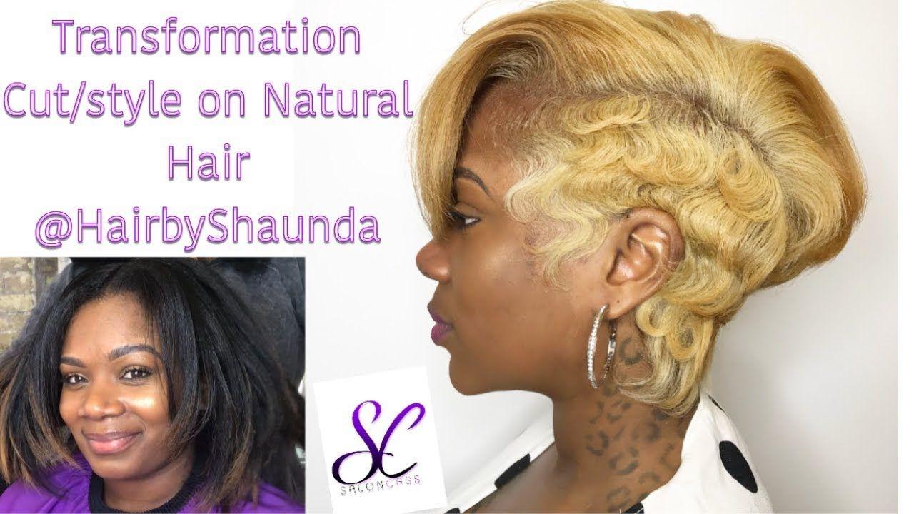 Edgy short hairstyle on natural hair hairbyshaunda youtube
