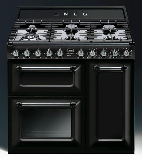 Piano de cuisson smeg tr93 noir idee freestanding cooker freestanding oven et dual fuel - Piano cuisine gaz ...