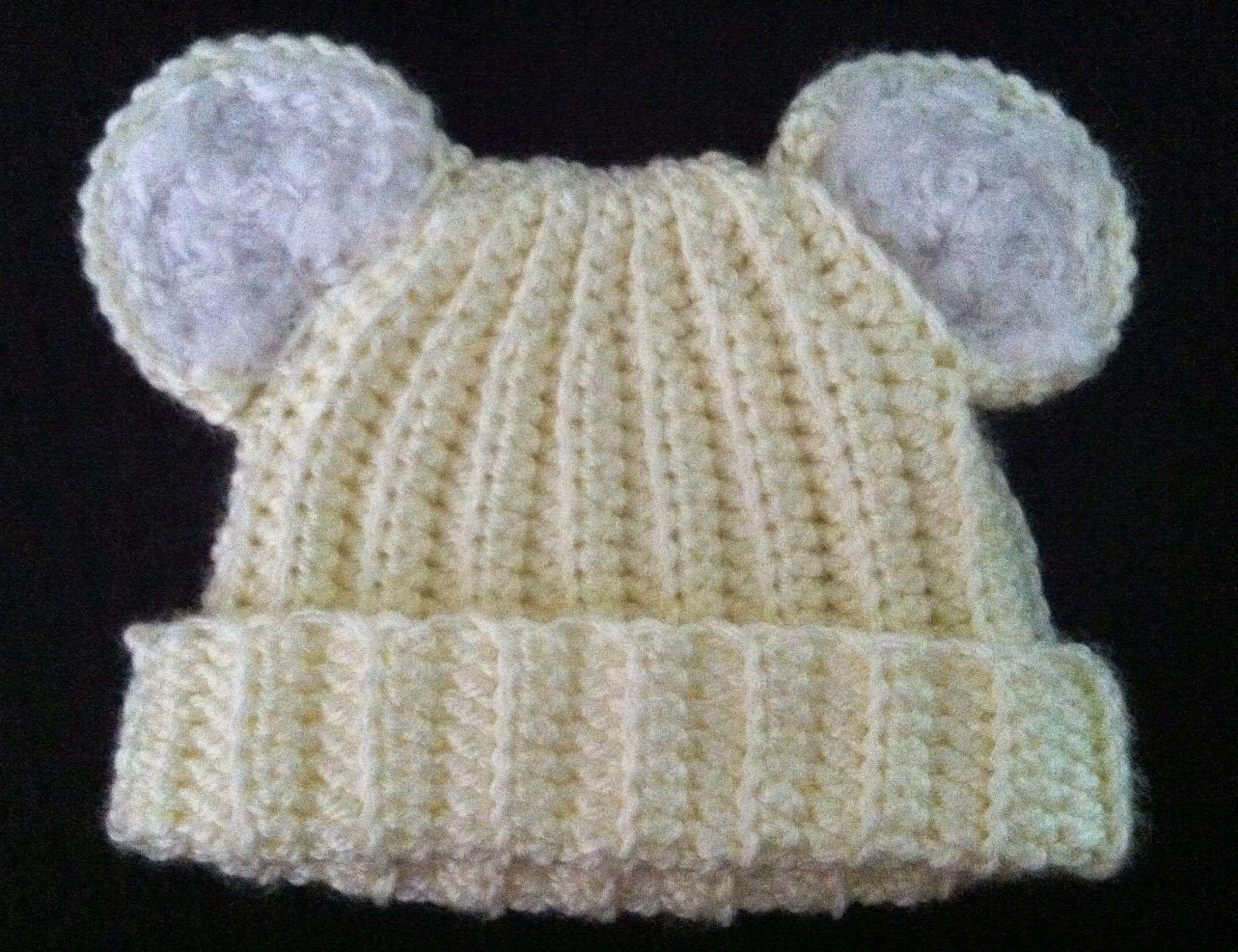 Amy\'s Crochet: Ribbed Baby Bear Hat | Baby Hats | Pinterest