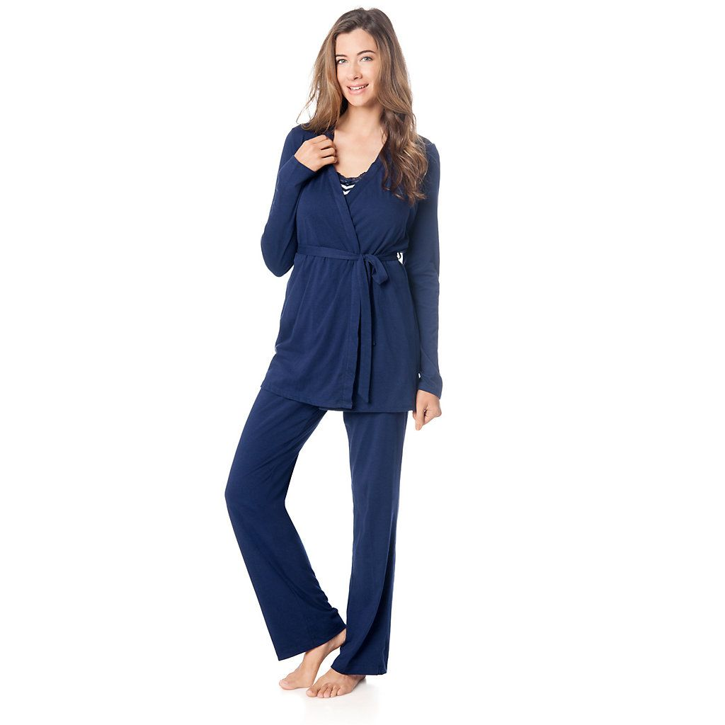 Maternity Oh Baby by Motherhood™ 3-Piece Nursing Pajama Set | For ...