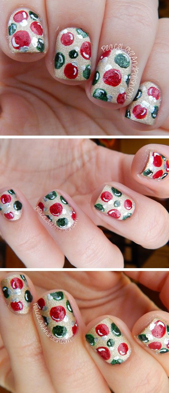 20 Adorable Christmas Nail Designs  Step by Step Tutorials Easy