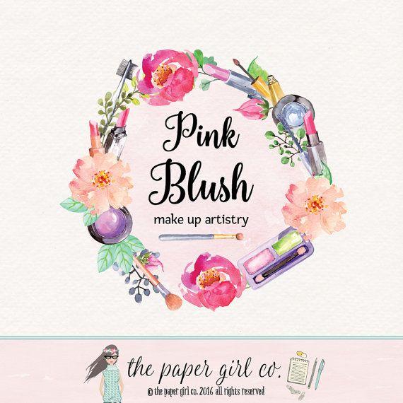 beauty logo design make-up artist logo make up by ThePaperGirlCo