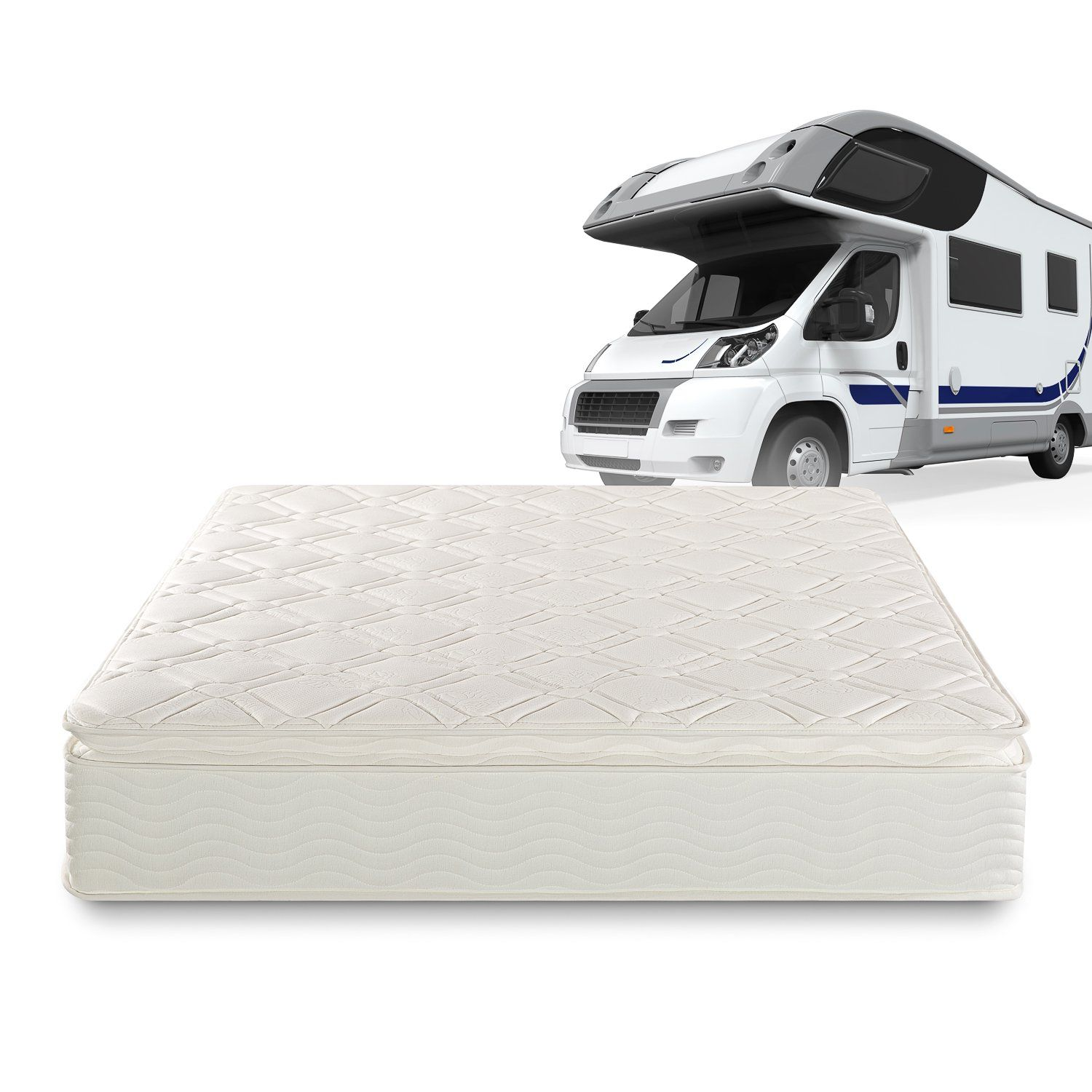 zinus sleep master deluxe spring 10 inch pillow top rv camper