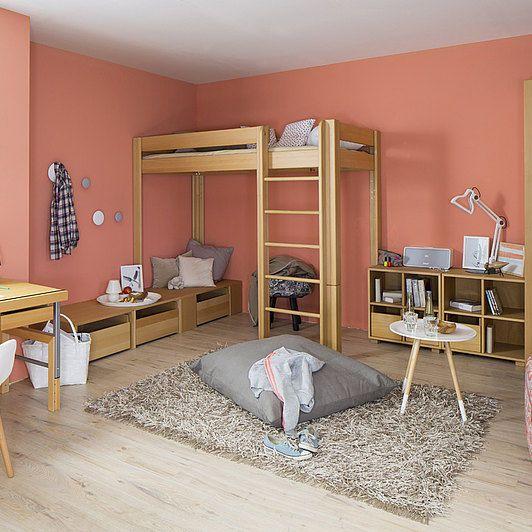 Alta Möbel cama simple alta moderna de madera debe deluxe teenagers 01