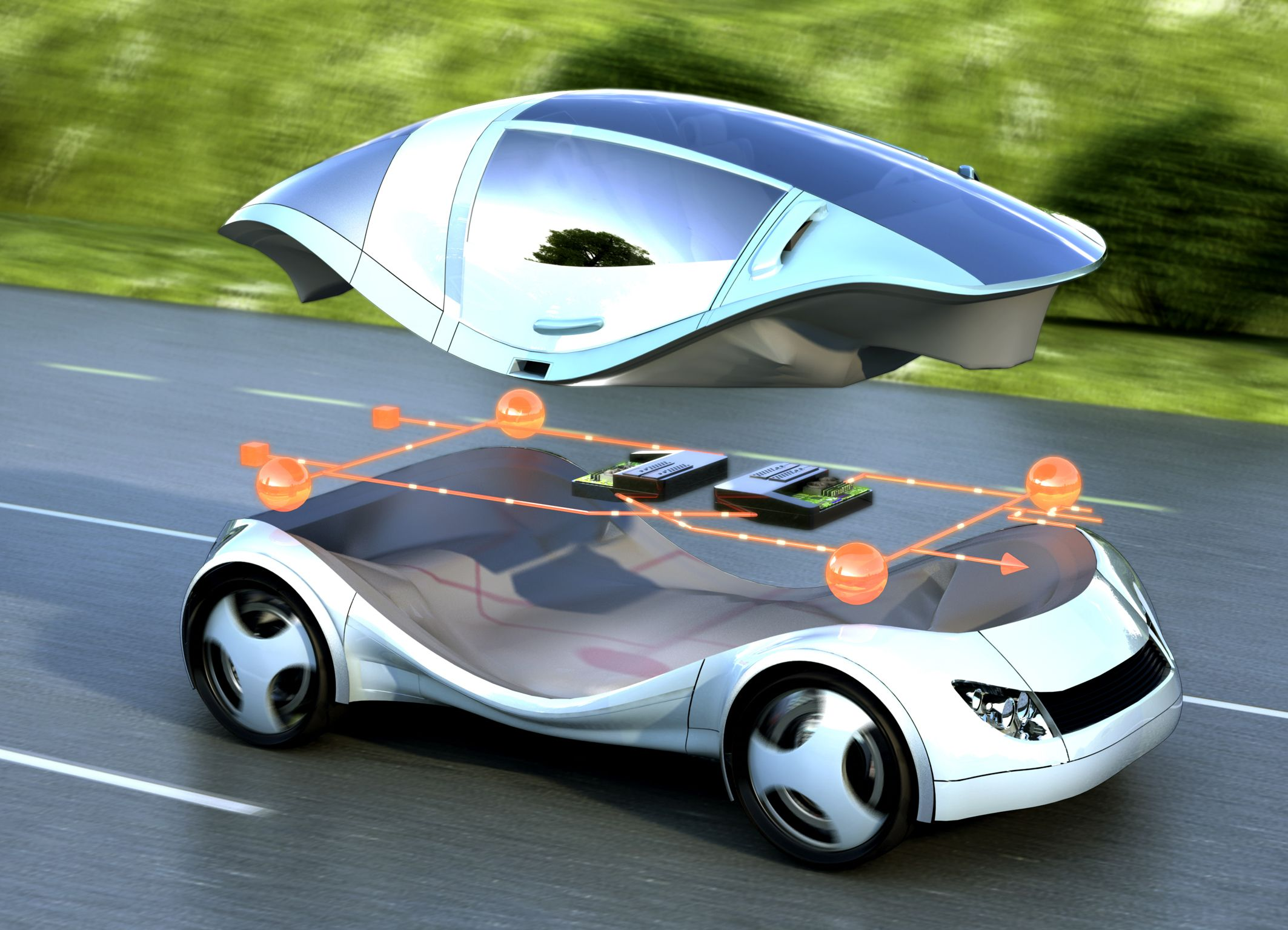 New Technology Integrated Software Architecture For The Car Of