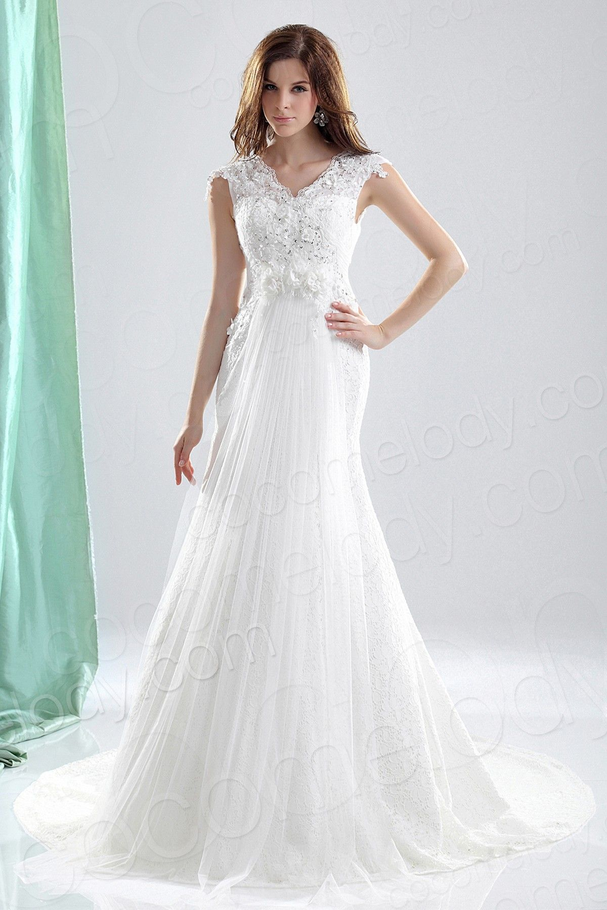 Tank top wedding dresses  TrumpetMermaid Court Train Lace Wedding Dress CWLTAD