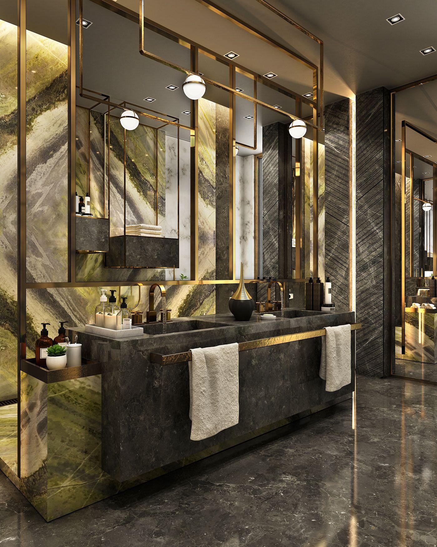 Antolini Black Bathroom On Behance Luxury Bathroom Architecture Bathroom Bathroom Design Luxury