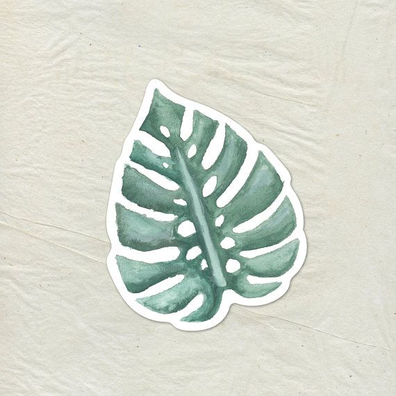 Tropical Palm Leaf Decal Palm Leaf Vinyl Sticker Watercolor