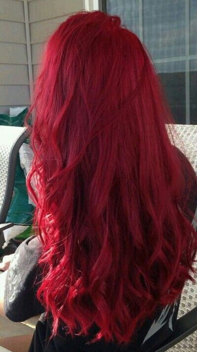 Bright Red Hair In 2019 Pinterest Red Hair Color Hair And Red Hair Bright Red Hair In 2019 Pinte Hair Styles Bright Red Hair Dye Dark Red Hair Dye
