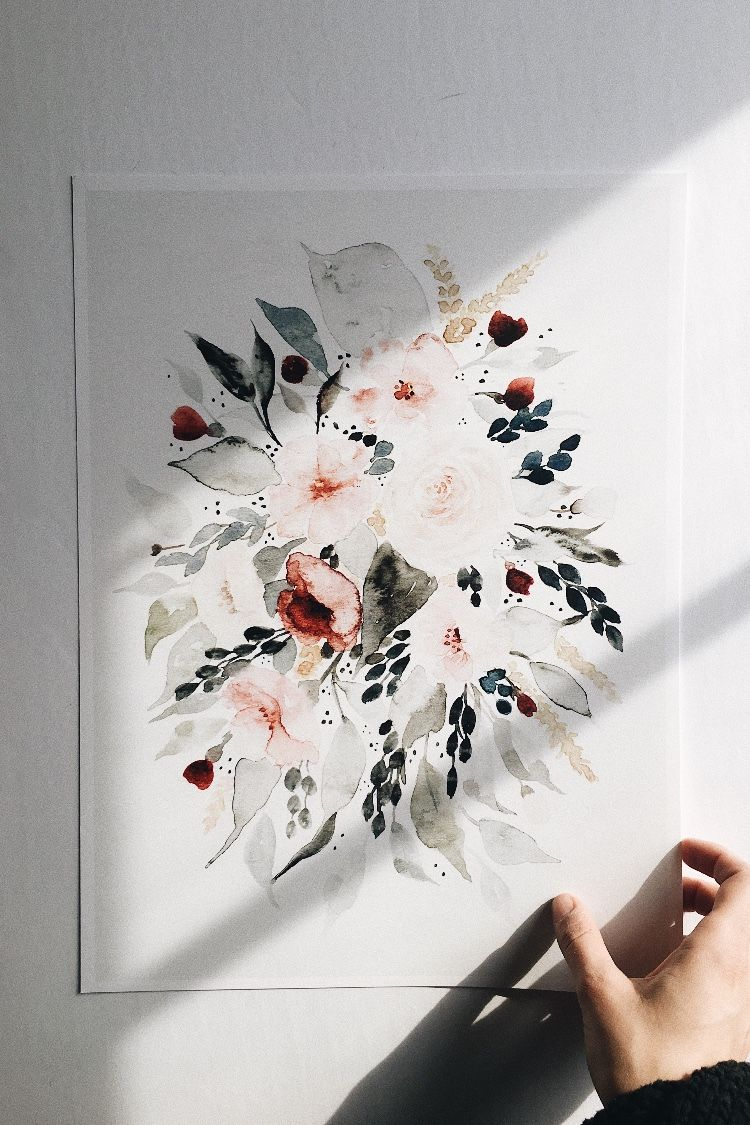 Watercolour Floral Painting By Botanical Painter Shealeen Louise