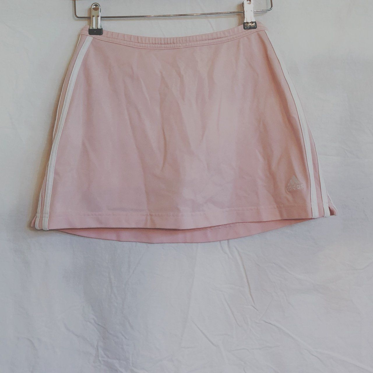 e655973168 The cutest Adidas light pink skirt! Its from their dry fit line so it can  be used for sports or it's also cute to wear out! Has shorts under so it  keeps ...