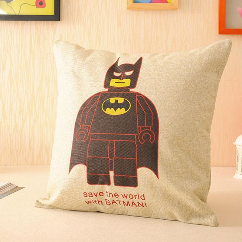 Top Finel 2016 The avengers Decorative Throw Accent Pillows Case Linen Cotton Cushion Cover for Home Sofa Car Covers 45X45cm