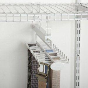 For Zippers Closetmaid 8060 Sliding Tie And Belt Rack For Wire Shelving Wire Shelving Wire Closet Shelving Closetmaid