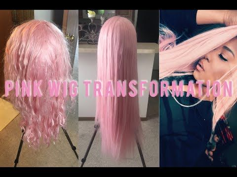 Colorweek How To Dye A Cheap Synthetic Lace Wig Rose Gold Ft Freetress Equal Amerie Youtube Synthetic Lace Wigs Hair Styles Wigs